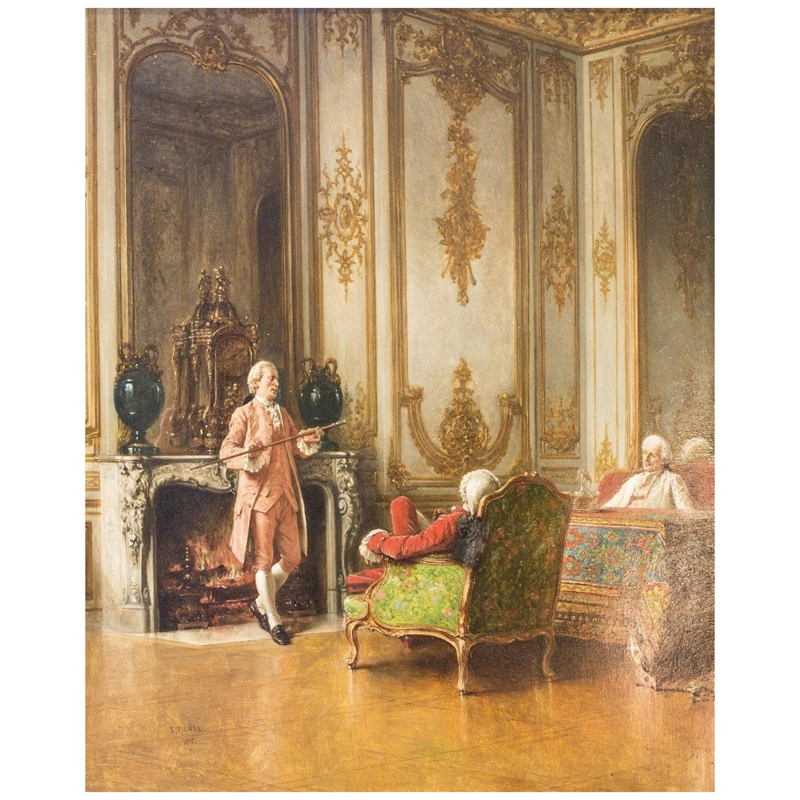 """Eugène Benjamin Fichel """"Holding Forth,"""" by Benjamin Eugene Fichel"""