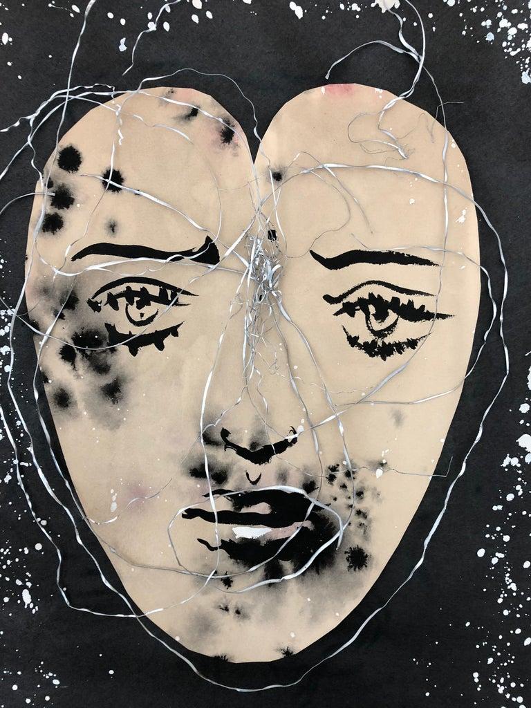 Modern Eugene Berman Collage in Original Frame For Sale