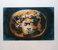 Head of Medusa - Original Lithograph by Eugène Berman - 1969