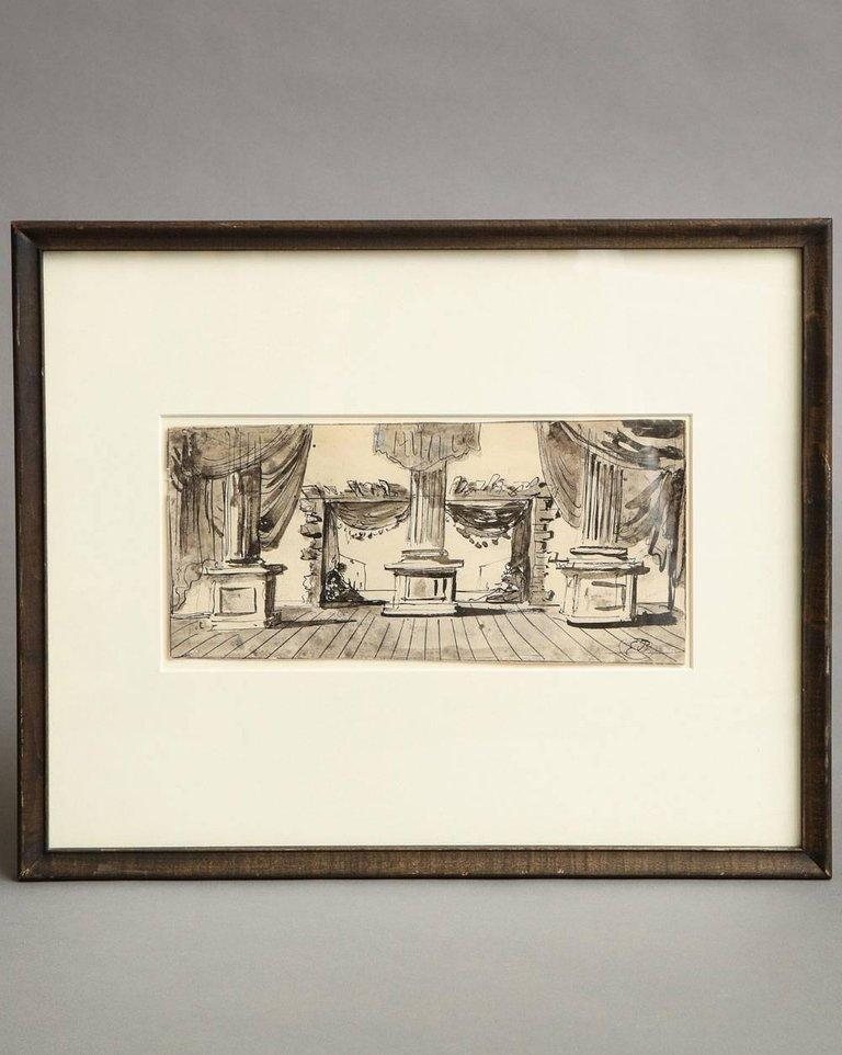 French Eugene Berman Untitled Stage Design For Sale