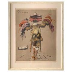 Eugene Berman, Vintage Hat Seller Print