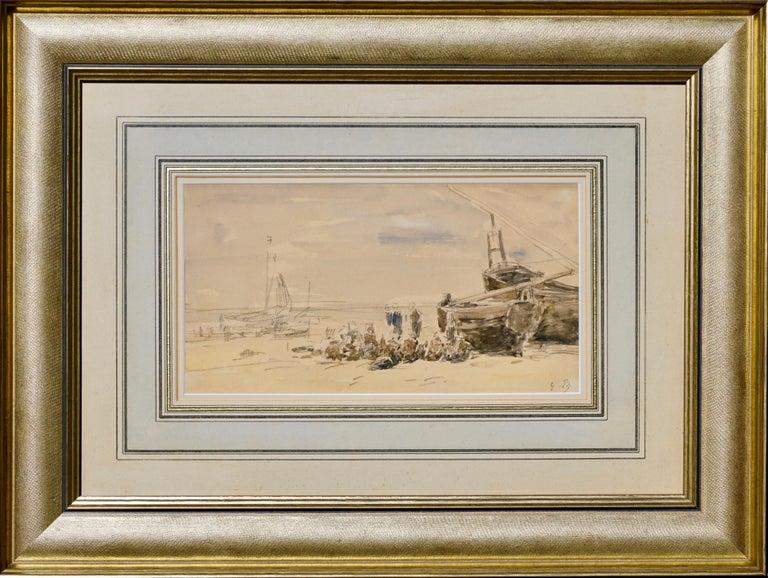 Beaux Arts Eugene Boudin Berck Scene De Plage For Sale
