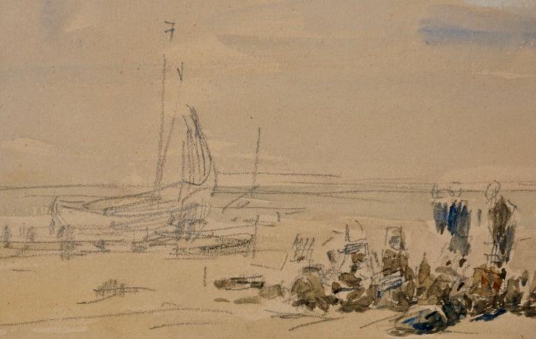 French Eugene Boudin Berck Scene De Plage For Sale