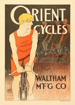Orient Cycles: Lead the Leaders by Edward Penfield, Bicycle lithograph, 1897