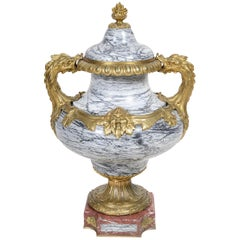 Eugene Cornu, Large Marble and Ormolu Urn, 19th Century