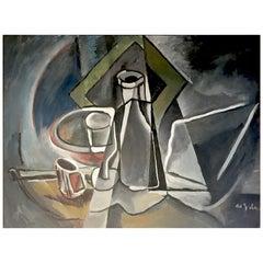 Eugéne De Sala Cubist Still Life Painting
