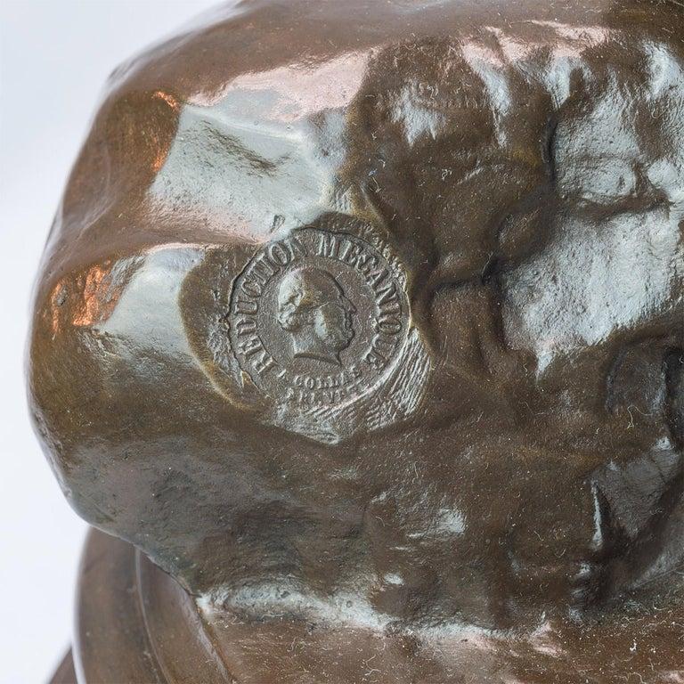 La Musique Patinated Bronze Sculpture by Delaplanche For Sale 2