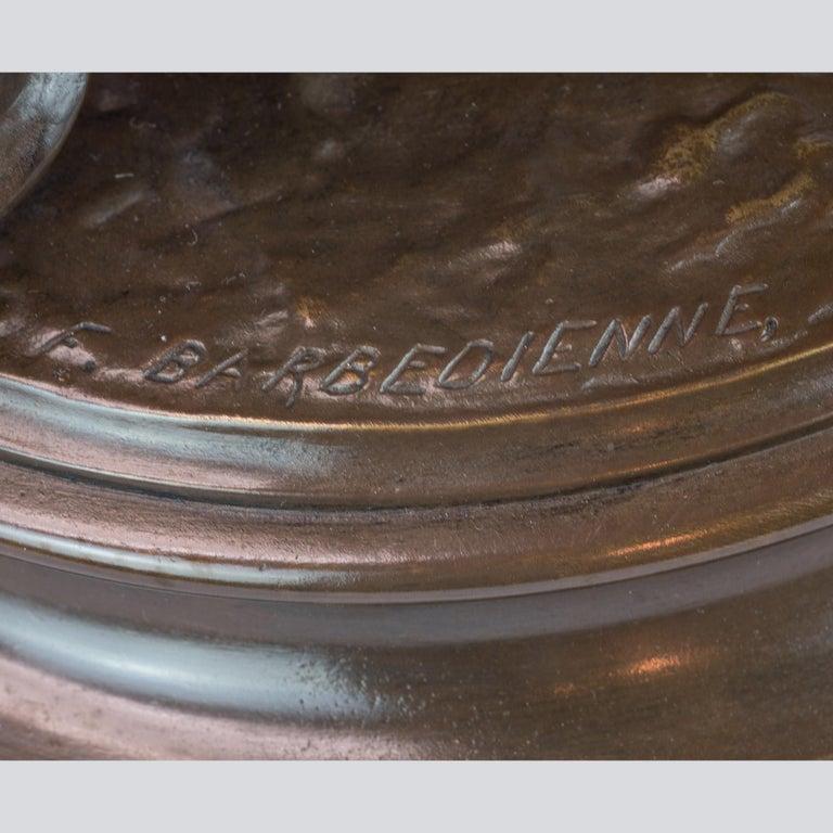 La Musique Patinated Bronze Sculpture by Delaplanche For Sale 3