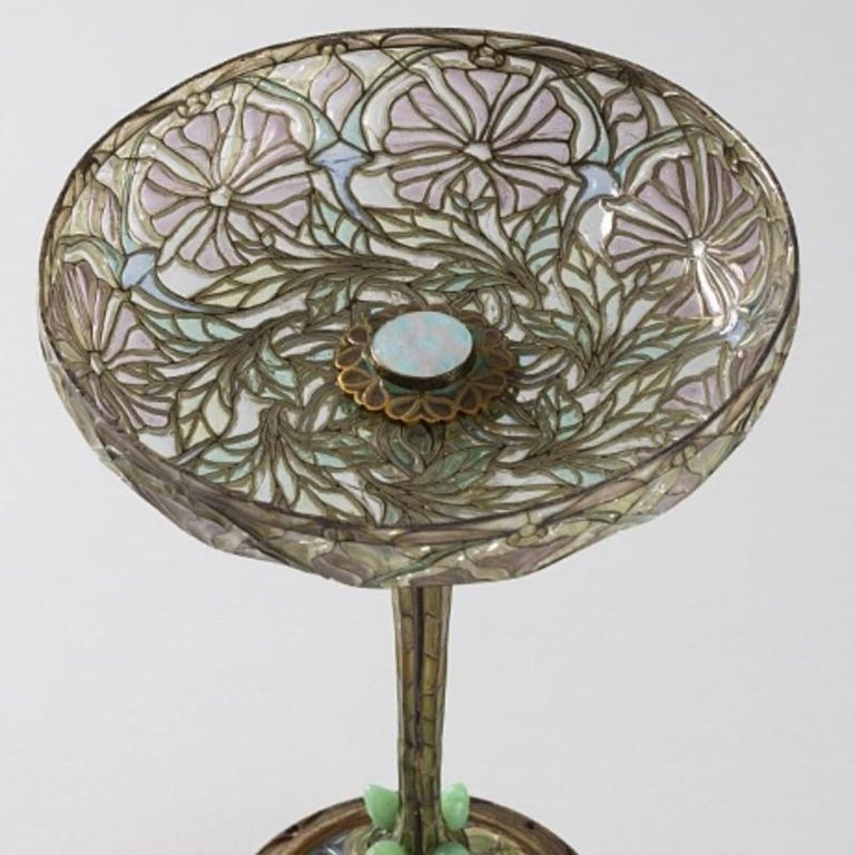 Eugène Feuillâtre French Art Nouveau Silver and Enamel Coupe D'ornement In Excellent Condition For Sale In New York, NY