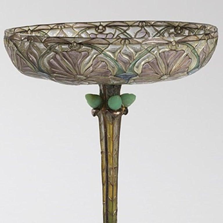 Early 20th Century Eugène Feuillâtre French Art Nouveau Silver and Enamel Coupe D'ornement For Sale