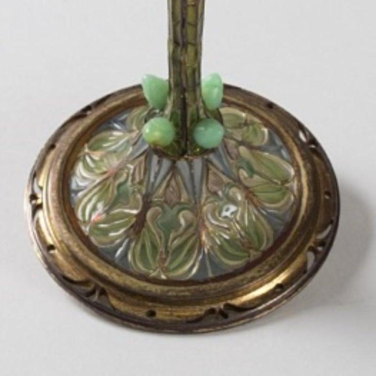 Eugène Feuillâtre French Art Nouveau Silver and Enamel Coupe D'ornement For Sale 1