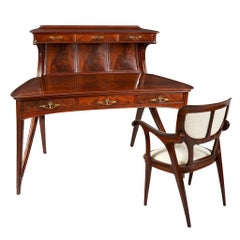 Eugène Gaillard Mahogany Desk Set