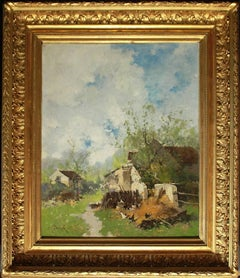 "Barbizon landscape ""Farmyard"""