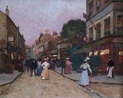 Elegant Figures in a Street
