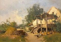Gîte à la campagne, Impressionist 19th Century