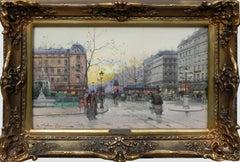 """""""La Place Pigalle"""", Galien-Laloue, Gouache, French Impressionism c.1927"""