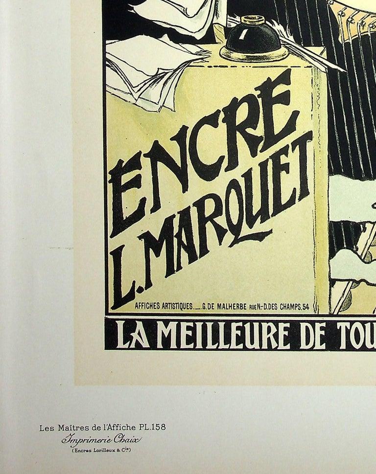 The Inspiration of the Poetess - Lithograph (Les Maîtres de l'Affiche), 1899 - Art Nouveau Print by Eugene Grasset