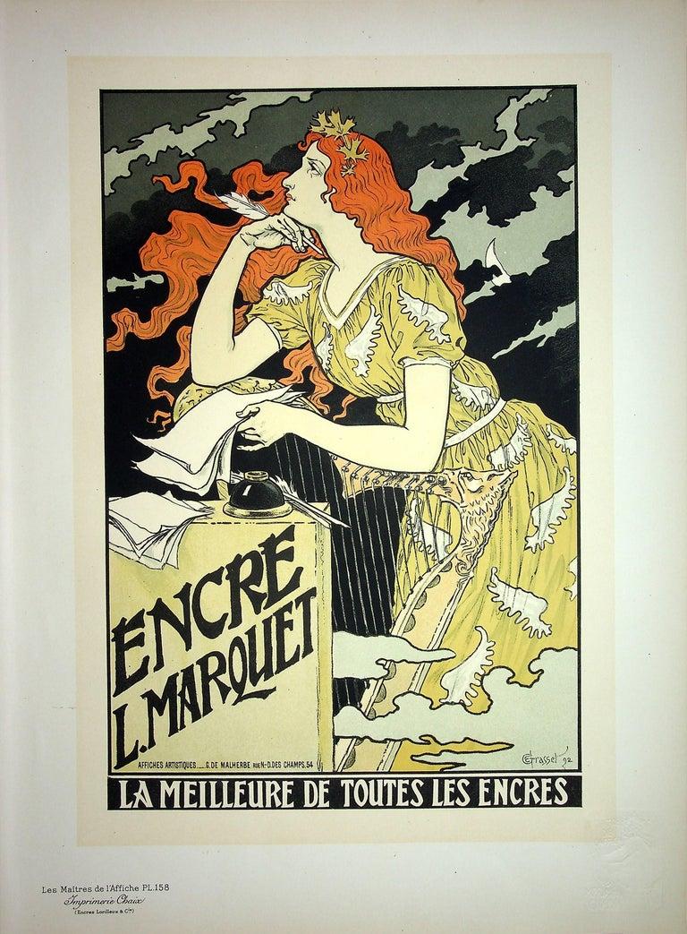 Eugene Grasset Figurative Print - The Inspiration of the Poetess - Lithograph (Les Maîtres de l'Affiche), 1899