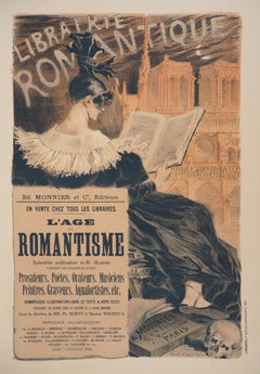 The Reader and Notre-Dame de Paris - Lithograph (Les Maîtres de l'Affiche), 1895