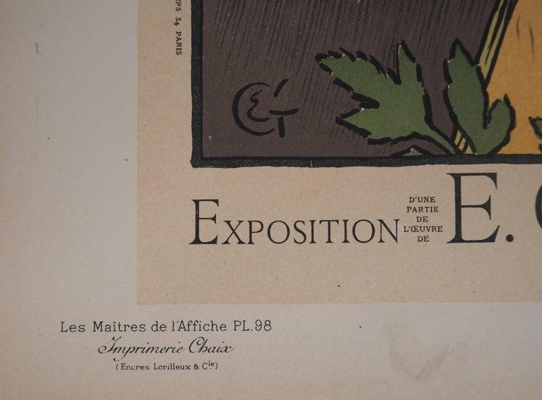 Woman with Flowers - Lithograph (Les Maîtres de l'Affiche), 1897 For Sale 3