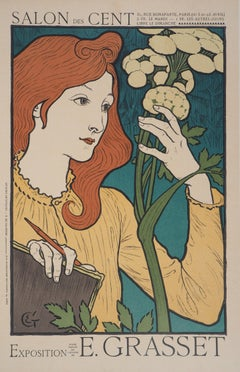 Woman with Flowers - Lithograph (Les Maîtres de l'Affiche), 1897