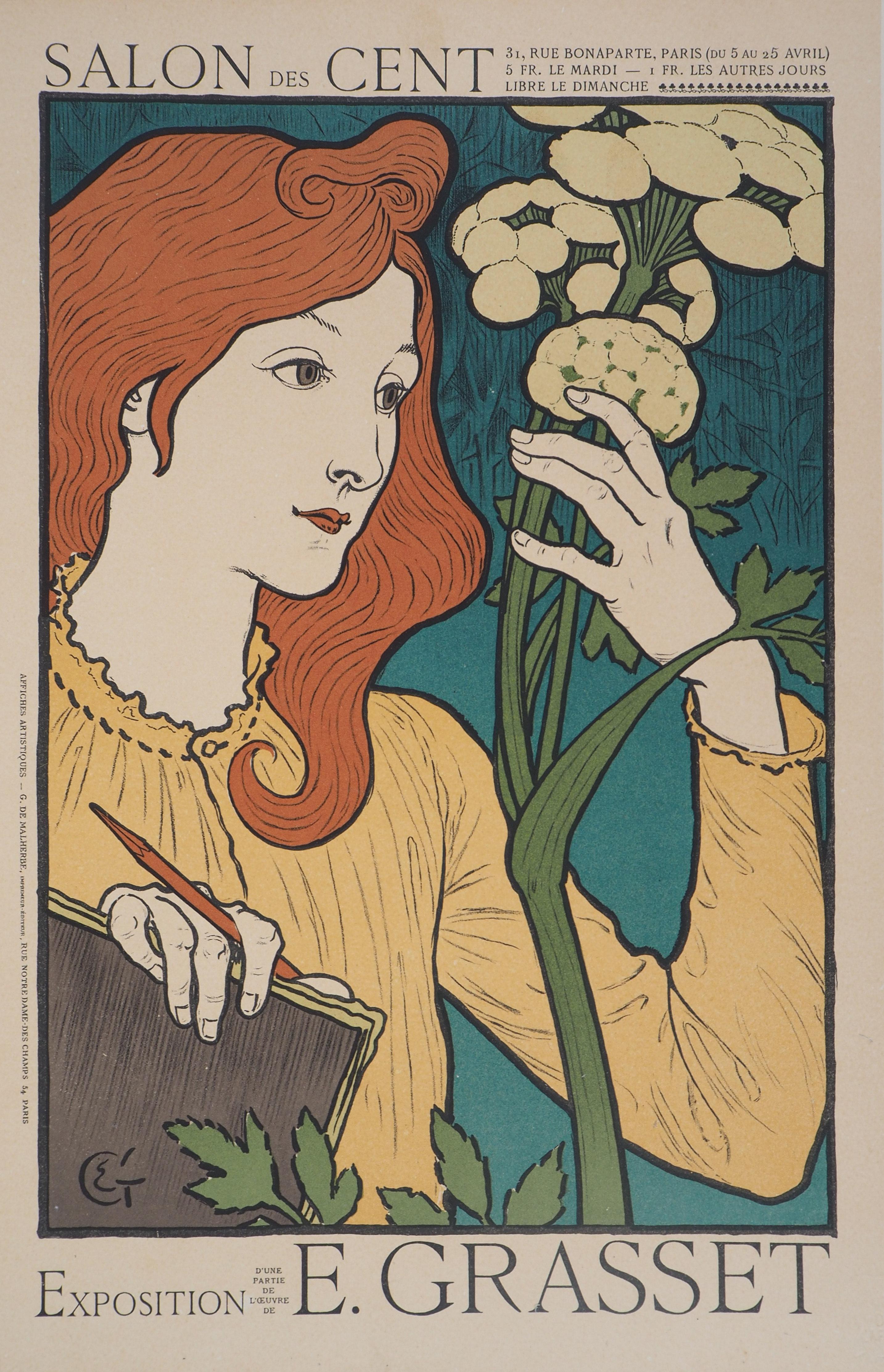 Woman with Flowers - Lithograph (Les Maîtres de l'Affiche), 1897