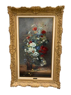 Large French Impressionist Still Life Bouquet Painting