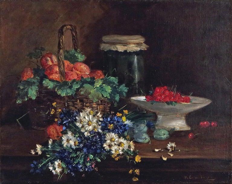 Eugene Henri Cauchois Still-Life Painting - Still Life with Cherries