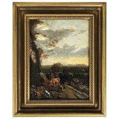 Eugène Joseph Verboeckhoven Oil Painting Copper, Belgium