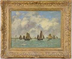 Étaples, Sortie des Barques de Pêche, EUGÈNE BOUDIN - Impressionist, Seascape