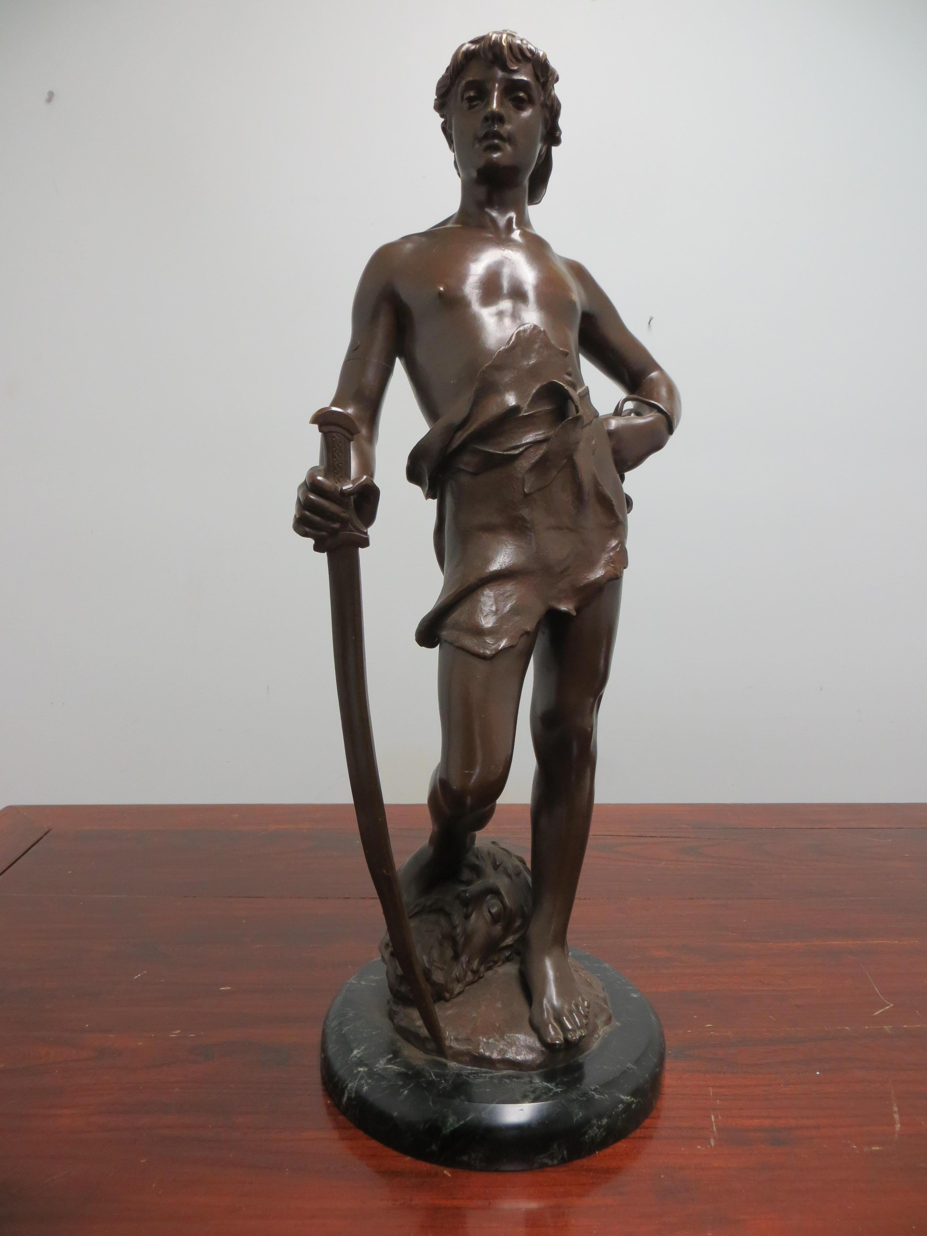 David with the head of Goliath, Bronze