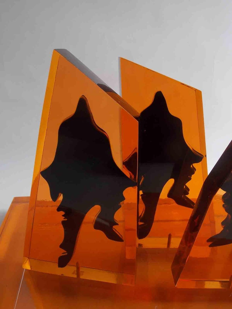 Eugene Massin Abstract Acrylic Sculpture In Good Condition For Sale In West Palm Beach, FL