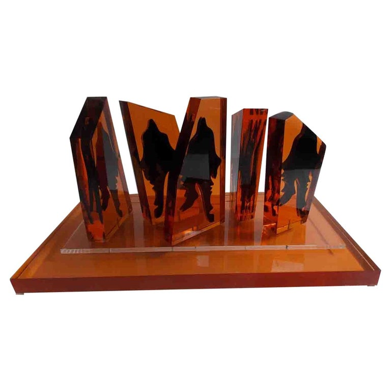 Eugene Massin Abstract Acrylic Sculpture For Sale