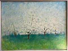 Apple Blossoms, original 30x40 contemporary landscape