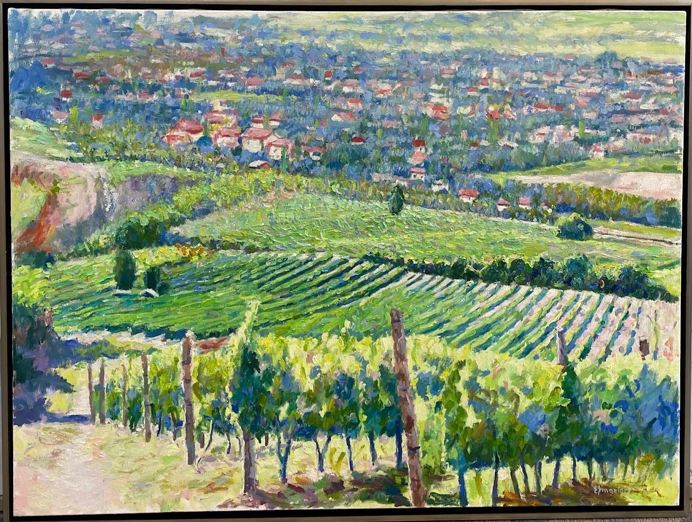 The Vineyards of Sonoma, California 24x36 original impressionist landscape