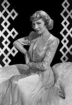 Claudette Colbert Glamour Portrait Gown Movie Star News Fine Art Print