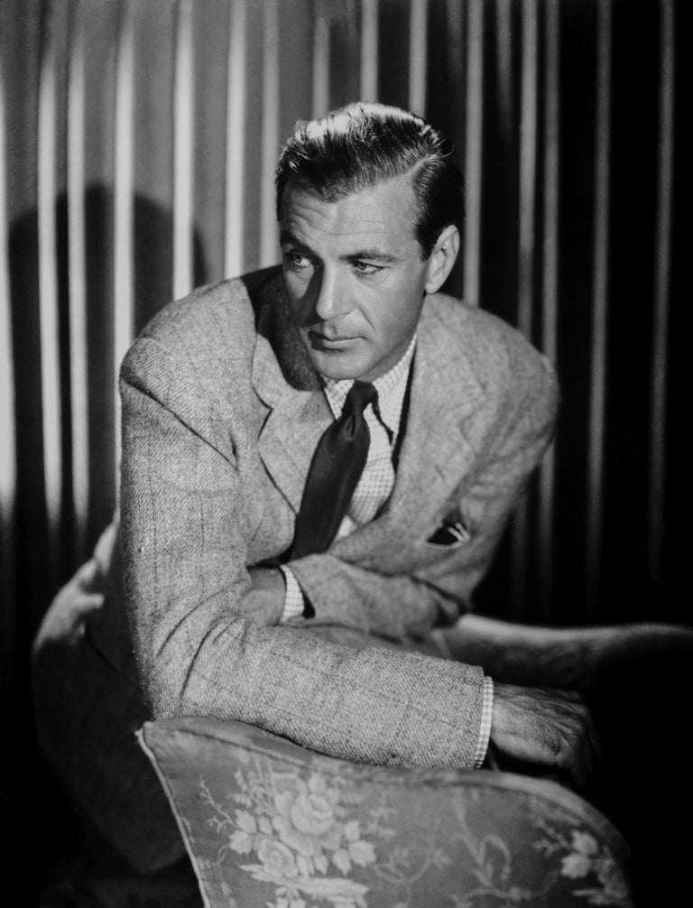 Eugene Robert Richee Black and White Photograph - Gary Cooper: Classy in the Studio Fine Art Print