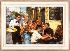 Oil Painting 'Cafe Scene' by Eugene Segal