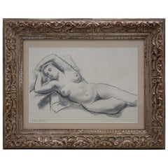 Eugene Speicher Midcentury Crayon and Pencil Drawing, circa 1950