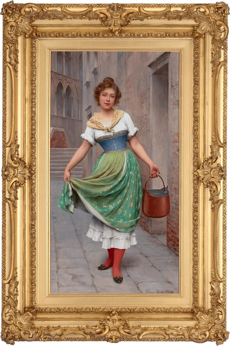 The Water Carrier - Painting by Eugene von Blaas