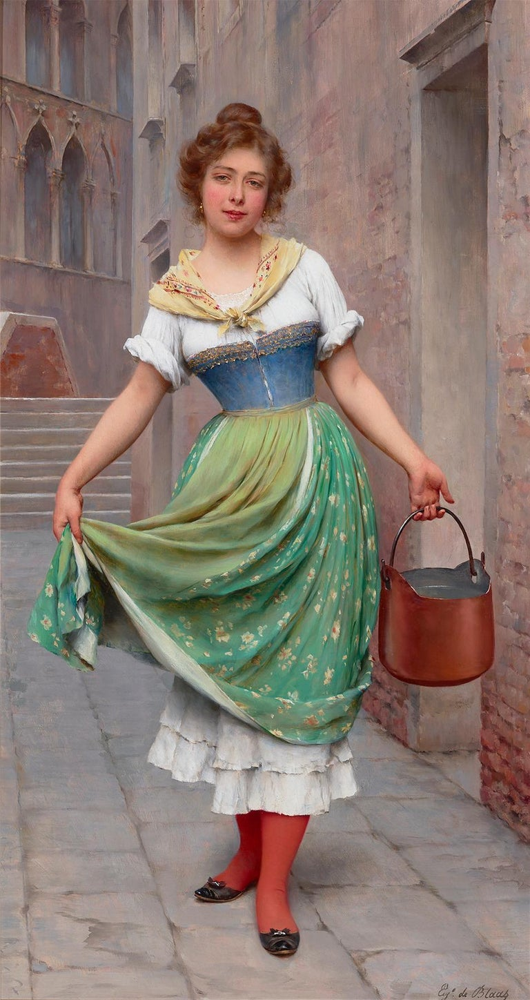 Eugene von Blaas Figurative Painting - The Water Carrier