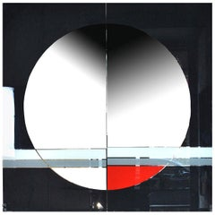 Eugenio Carmi Italian Graphic Designer Wall Mirror Morphos for Acerbis, 1980s