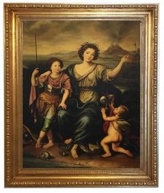 ALLEGORICAL SCENE- In the Manner of  P. Mignard- Italian- Oil on Canvas Paint