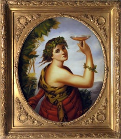 AUTUMN'S ALLEGORY  - Venetian School Portrait Italian Oil on Canvas Painting