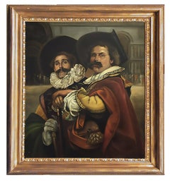 MUSKETEERS -  French School - Figurative - Italian Oil on Canvas Painting