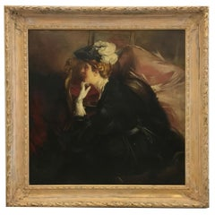 PORTRAIT OF A LADY- In the Manner of G.Boldini - Portrait Oil on canvas paint