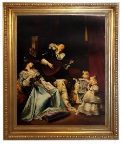 SCENE WITH MINSTREL- In the Manner of G. Boldini - Italy -Oil on canvas painting