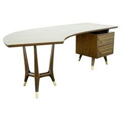 Eugenio Escudero Mid-Century Desk, Mexico, 1950s