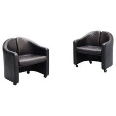 Eugenio Gerli PS142 Easy Chairs Tecno, Italy, 1966