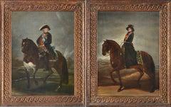 Carlos IV and Maria Luisa de Parma museum studies from Goya at Prado Museum